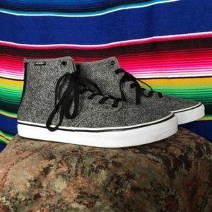 Vans Camden Tweed Hi Top Skate Zip Up Sneakers